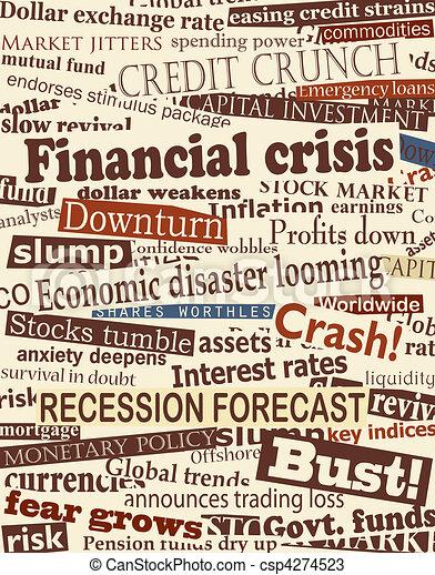 Financial crisis headlines - csp4274523
