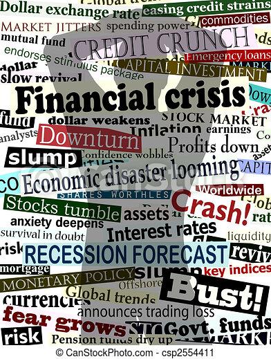 Financial crisis shadow - csp2554411