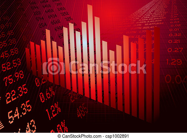 financial figures graph red - csp1002891