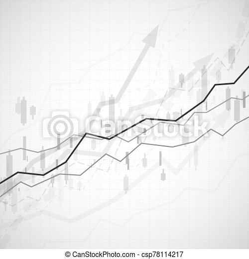 Financial graph chart. Business data analytics. Graph chart of stock market investment trading. Abstract analisys and statistic diagram. vector illustration - csp78114217