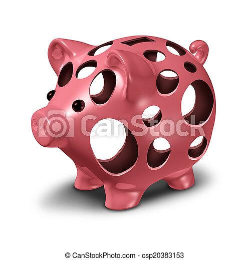 Financial Hole - csp20383153