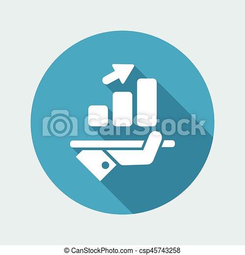 Financial increasing icon - csp45743258
