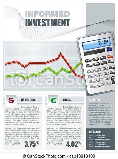 Financial Investment Brochure - csp13913100
