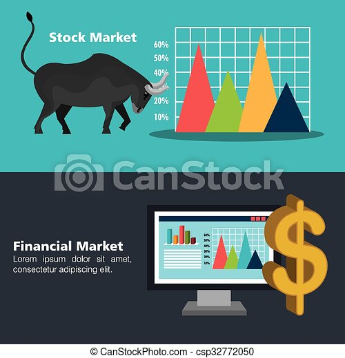 Financial market and investments - csp32772050