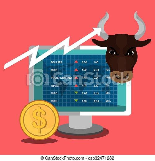 Financial market and stock market - csp32471282