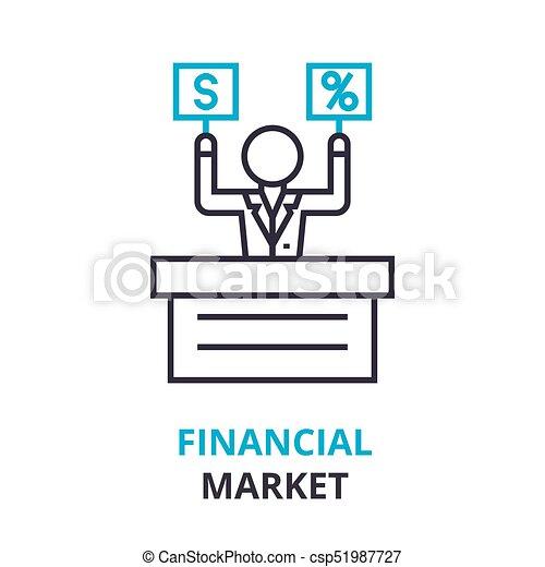 Financial market concept outline icon linear sign thin line financial market concept outline icon linear sign thin line pictogram logo ccuart Images