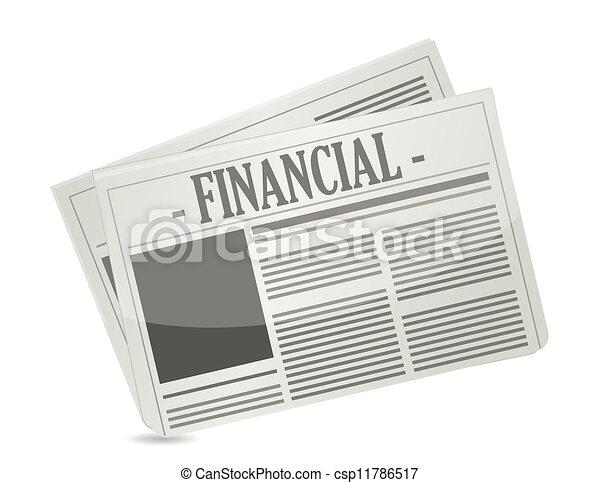 financial newspaper - csp11786517