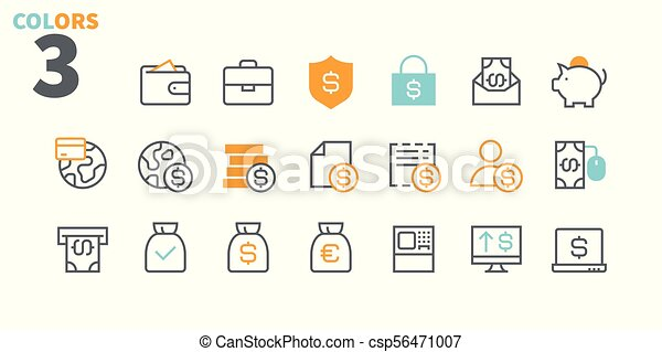 Financial Pixel Perfect Well-crafted Vector Thin Line Icons 48x48 Ready for 24x24 Grid for Web Graphics and Apps with Editable Stroke. Simple Minimal Pictogram Part 2 - csp56471007