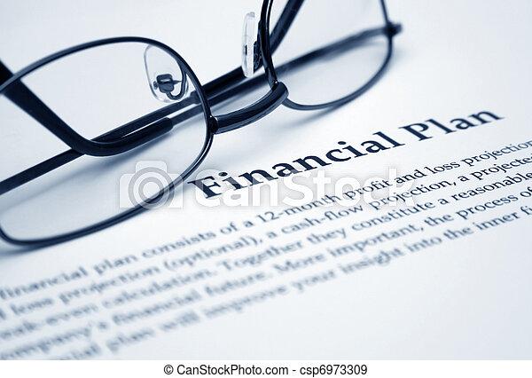 Financial plan  - csp6973309