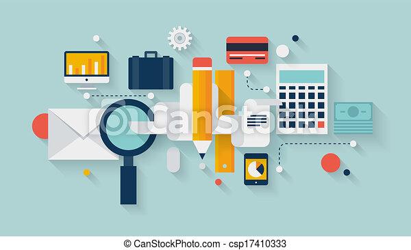 Financial planning and development illustration - csp17410333