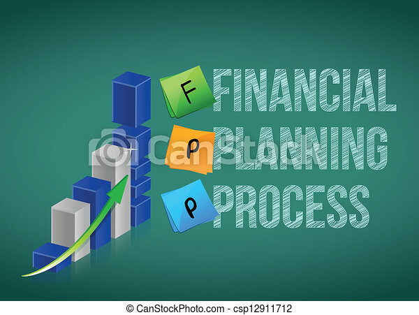 financial planning process. Business graph - csp12911712