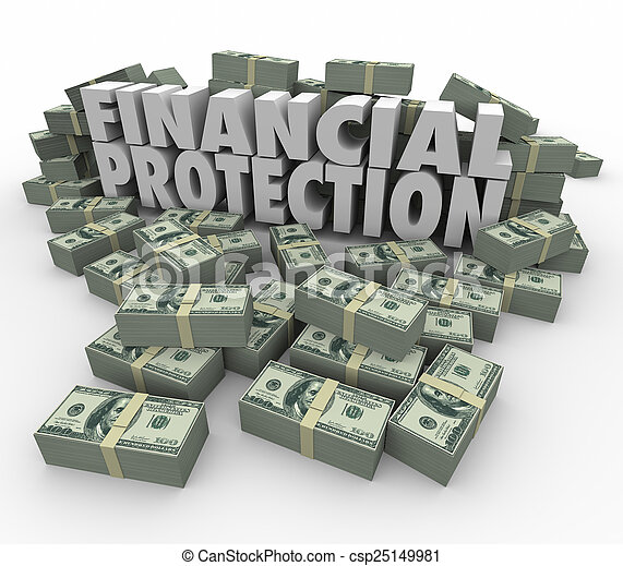 Financial Protection Safe Secure Money Investment Account  Savin - csp25149981