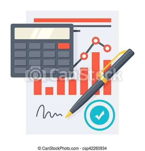 Financial Statement Concept - csp42260934