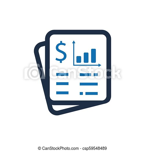 Financial Statement Icon - csp59548489