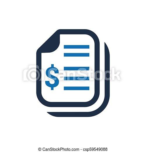 Financial Statement Icon - csp59549088