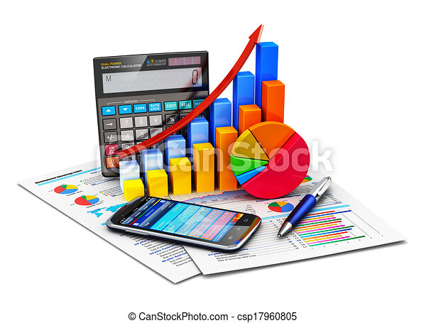 Financial statistics and accounting concept - csp17960805
