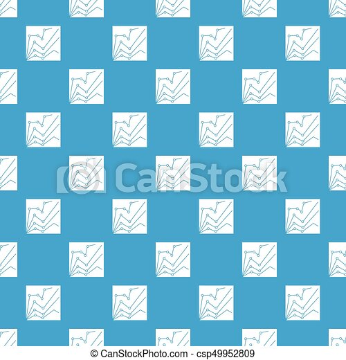 Financial statistics pattern seamless blue - csp49952809