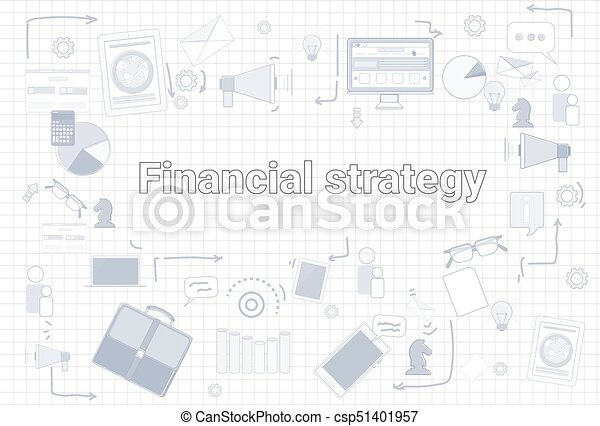 Financial Strategy Business Economic Development Plan Banner - csp51401957