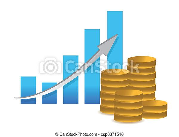 Financial success concept- graph - csp8371518
