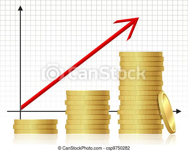 Financial success concept - csp9750282