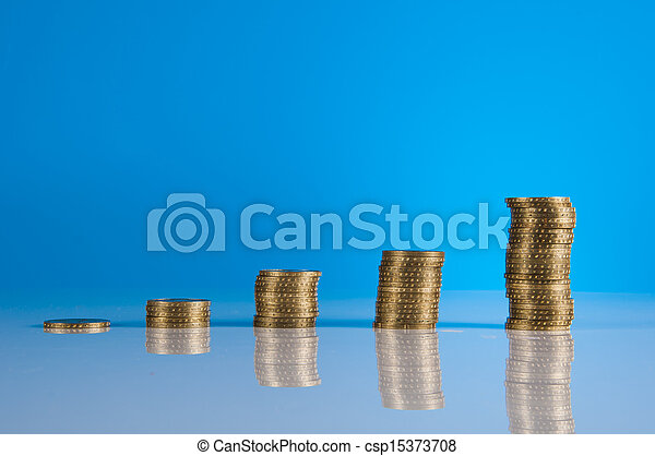 Financial theme with business stuff - csp15373708