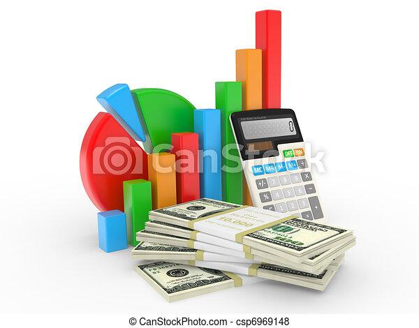 financier, business, reussite, projection, diagramme, marché, stockage - csp6969148