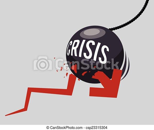 financier, conception, crise - csp23315304