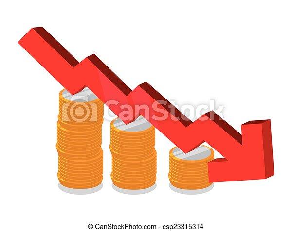 financier, conception, crise - csp23315314