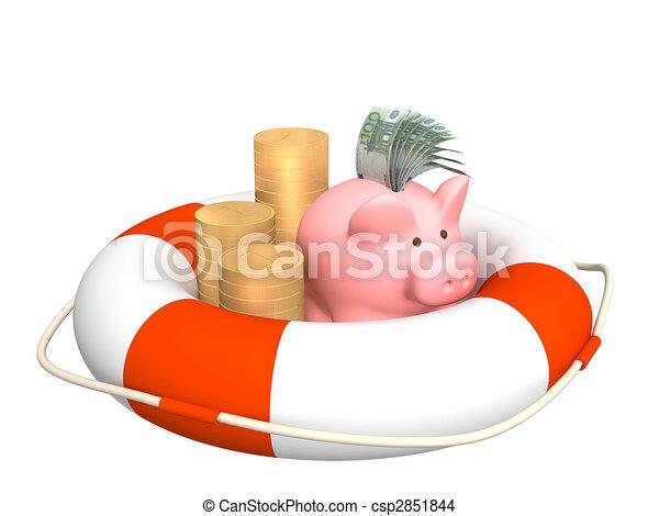 financier, crise, aide - csp2851844