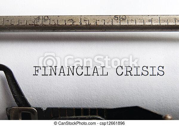 financier, crise - csp12661896