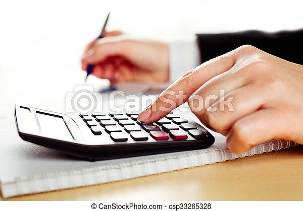 financier, données, analyser - csp33265328