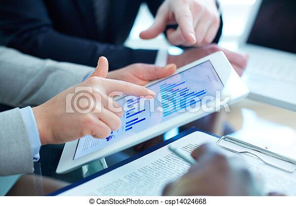 financier, données - csp14024668