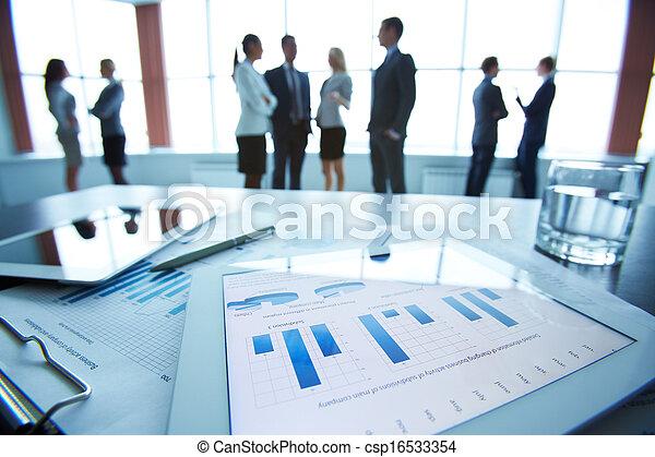 financier, données - csp16533354