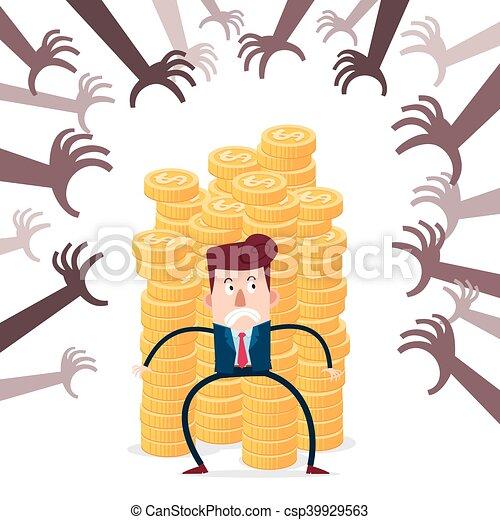 financier, menace - csp39929563