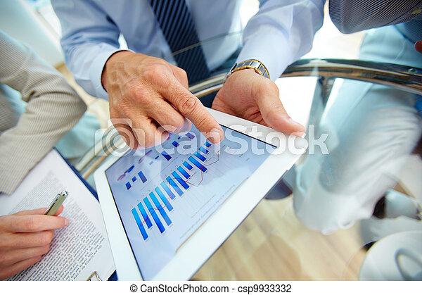 financiero, datos, digital - csp9933332