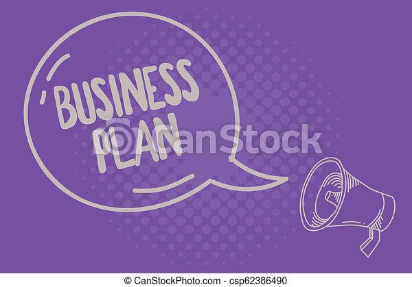 Señal de texto mostrando un plan de negocios. Fotos conceptuales, estrategias estructurales y objetivos proyecciones financieras - csp62386490