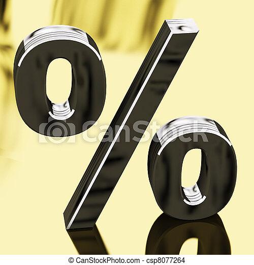 finans, tegn, interesse, procentdel, repræsenterer, sølv - csp8077264