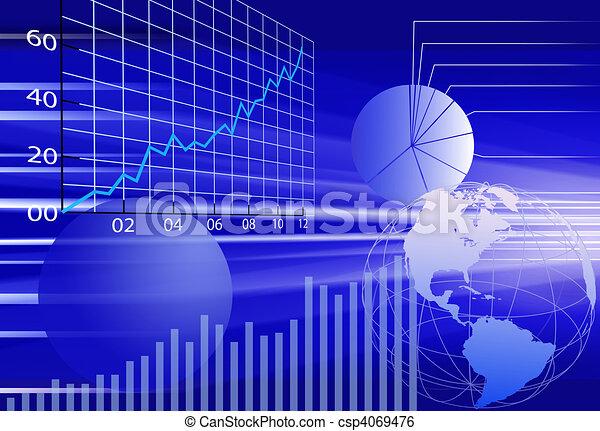 finansowy, handlowy, abstrakcyjny, tło, świat, dane - csp4069476