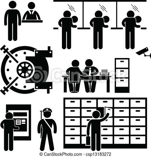 Finanz, arbeiter, bank, geschaeftswelt, personal. Satz,... Vektoren ...