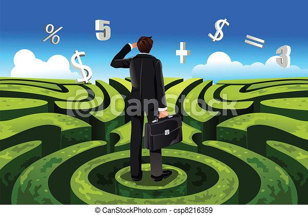 Geschäftsfinanz - csp8216359