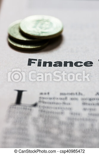 Finanzas - csp40985472
