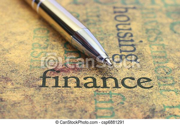 Finanzas - csp6881291
