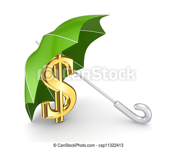 finanziell, concept., schutz - csp11322413