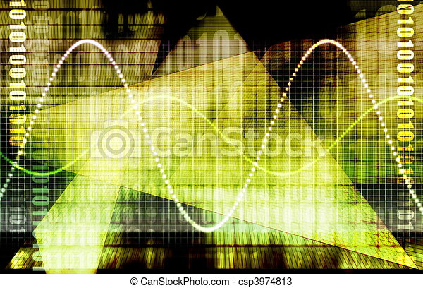 Finanzforschung auf dem Weltmarkt - csp3974813