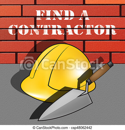 Find A Contractor >> Find A Contractor Meaning Finding Builder 3d Illustration Find A