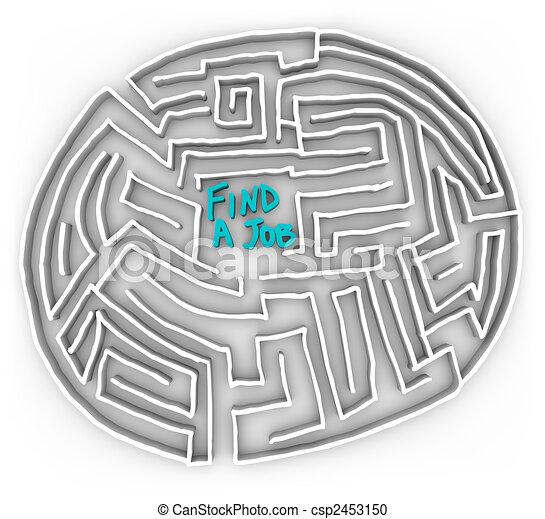 Find a Job - Circular Maze - csp2453150
