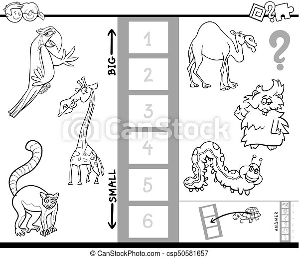 find biggest animal game for coloring - csp50581657