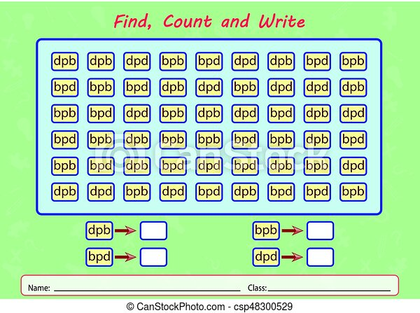 Find, count and write, worksheet for kids. Find, count and write ...
