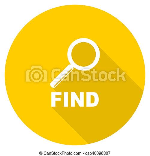 find flat design yellow web icon - csp40098307