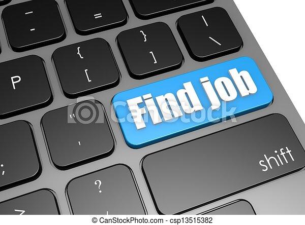 Find job with black keyboard - csp13515382